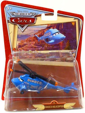 Disney Pixar World of Cars - Die-Cast Over-sized Dinoco Helicopter