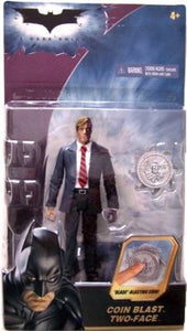 "Batman the Dark Knight's Harvey Dent the Two Face 5"" Action Figure with Coin Blast"