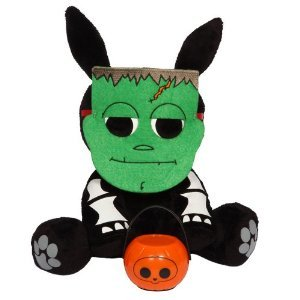 "Skelanimals - Jack the Rabbit as a Monster Halloween 8"" Plush w/ Lantern"