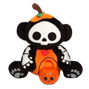 "Skelanimals - Marcy as a Pumpkin Halloween 8"" Plush w/ Lantern"