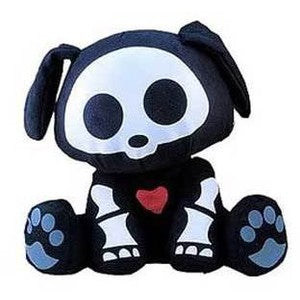 "Skelanimals - Glow-in-the-Dark Dax the Dog 10"" Plush"