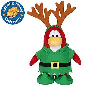 "Disney Club Penguin - Holiday Elf 6.5"" Plush"
