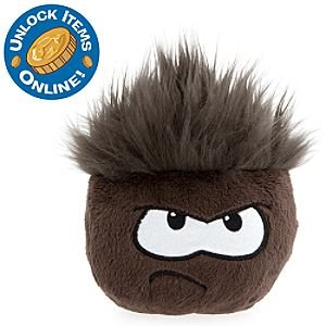 "Disney Club Penguin - Puffle 4"" Black Plush"