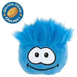 "Disney Club Penguin - Puffle 4"" Blue Plush"
