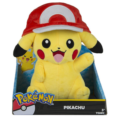 Pokemon Large Pikachu with Ash's Hat Plush