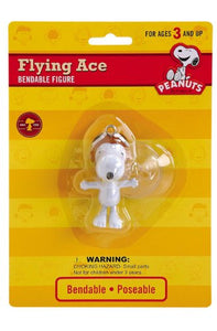"Peanuts - Flying Ace Snoopy Bendable 2"" Figure with Suction Cup"