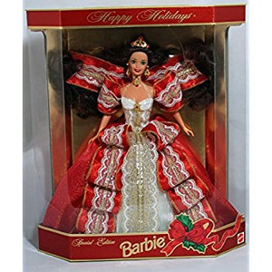"Barbie Happy Holidays 10th Anniversary - Special 5th Hallmark Edition 12"" Doll"
