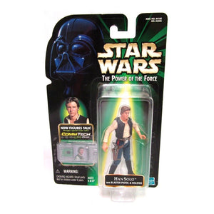 "Star Wars Power of the Force - Han Solo 3.75"" Action Figure with CommTech Chip"
