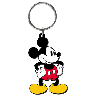 Disney Retro Mickey Mouse Soft Touch PVC Key Ring