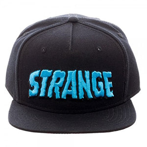 Marvel Doctor Strange Text Snapback Hat w/ Sublimated Under Bill