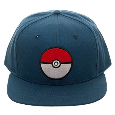 Pokemon Blue Poke Ball Baseball Snapback Hat