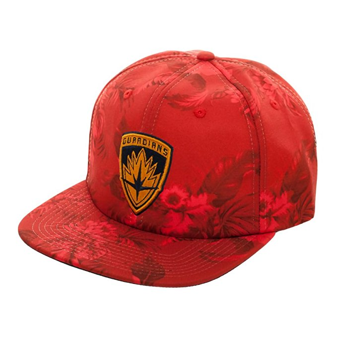 Marvel Guardians of the Galaxy Logo Mono Floral Slouch Adjustable Baseball Cap