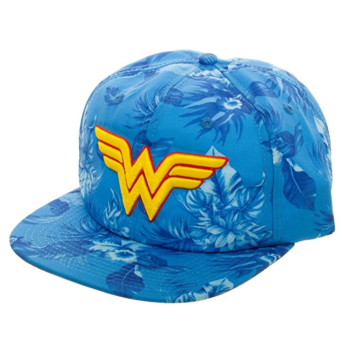 DC Comics Wonder Woman Mono Floral Slouch Adjustable Hat