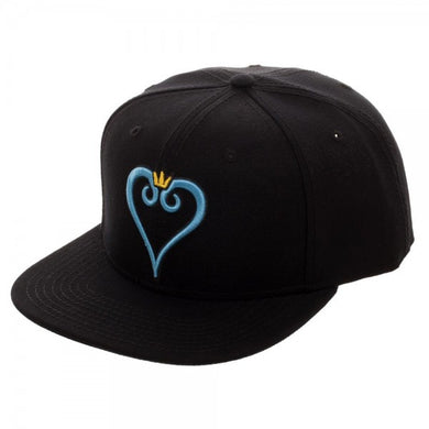 Kingdom Hearts Heart Embroidery Snapback Cap