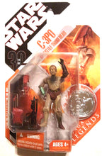 "Star Wars 30th Anniversary - C-3PO 3.75"" Action Figure w/ Droid Battle Head & Collector Coin"