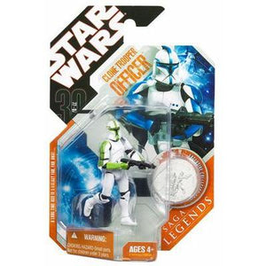"Star Wars 30th Anniversary - Green Clone Trooper Officer 3.75"" Action Figure & Collector Coin"
