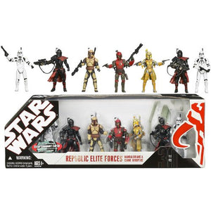 "Star Wars 30th Anniversary - Republic Elite Forces Mandalorians & Clone Troopers 3.75"" Action Figure 7-Pack"
