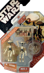 "Star Wars 30th Anniversary - Pit Droids 3.75"" Tan Action Figure Set"