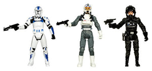 "Star Wars Legacy Collection - Evolutions Imperial Pilot 3.75"" Action Figures 3-Pack"