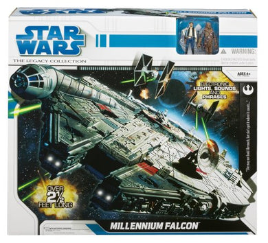 Star Wars Legacy Collection - Millennium Falcon with Han Solo & Chewbacca 3.75