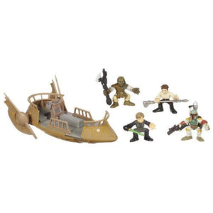 "Star Wars Galactic Heroes Cinema Scene - Jabba's Skiff 2"" Action Figures in the Pit of Carkoon"