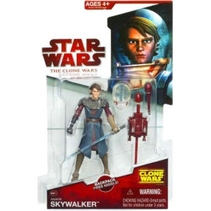 "Star Wars Clone Wars 2009 CW21 - Anakin Skywalker 3.75"" Action Figure in Space Suit"