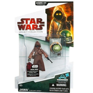 "Star Wars Legacy Collection 2009 Build-A-Droid BD39- Jawa 3"" Action Figure with Security Droid"