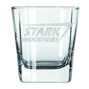 Stark Industries Laser Etched Glass Tumbler 2-Pack