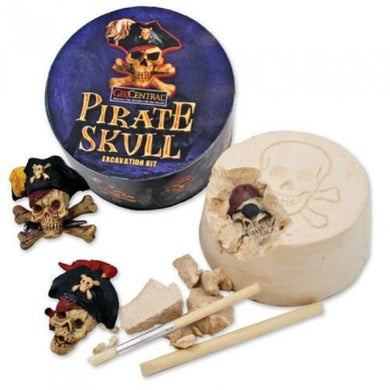 GeoCentral Pirate Skull Round Excavation Kit