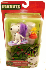 "Peanuts Charlie Brown Christmas  - Snow Fun Snoopy 5.25"" Figure"
