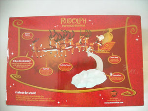 "Rudolph the Red Nosed Reindeer - Santa's Musical Sleigh and Reindeer 15"" Set"
