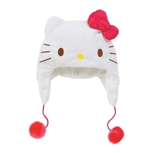 Hello Kitty Kids Face Hat - Red Ribbon & White Face