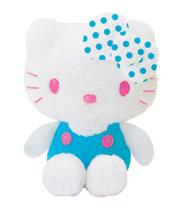 "Hello Kitty Blue Overall Polk-a-Dot Soft 6""Plush"