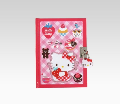 Hello Kitty Strawberry Collection Locking Diary