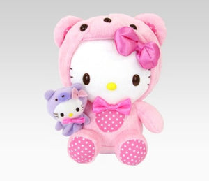 "Hello Kitty in Bear Outfit 8"" Plush with Finger Puppet"