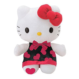 "Hello Kitty Heart Dress 8"" Plush with Foot Mark"