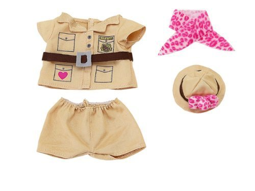 Hello Kitty Dress Me Zoo Keeper Outfit for Dress-Me Plush (Outfit Only Dress Me Plush NOT Included)