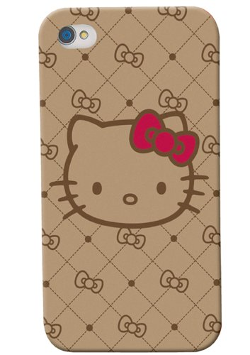 Hello Kitty IPhone 5 / 5S Tan Jacquard Hard Case with Screen Protector