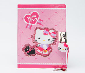 Hello Kitty Black Terrier Collection Locking Diary