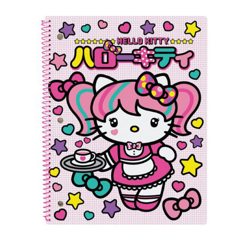 Hello Kitty Japanimation Cafe Maid- College Ruled 60 Sheet Notebook