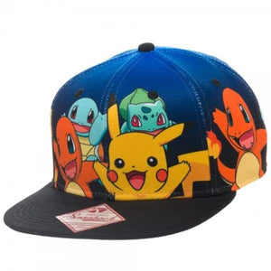 Pokemon Group Gradient Snapback Hat Size ONE SIZE