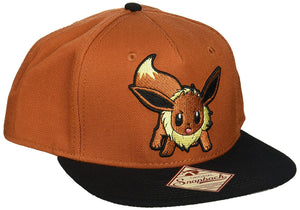Pokemon Eevee Brown Color Block Snapback Baseball Cap
