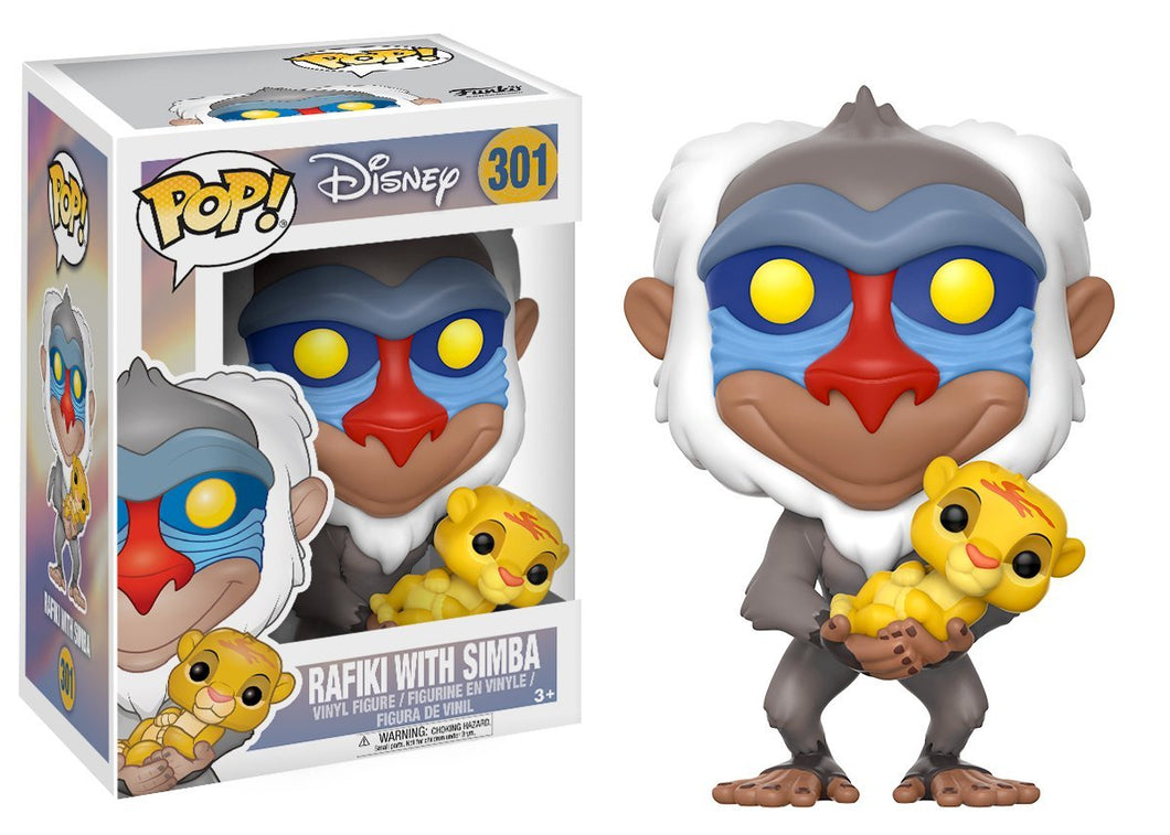 Funko Pop Disney Lion King - Rafiki Figure with Simba