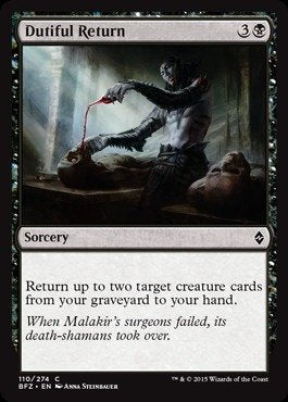 MTG BFZ 110/274 - Dutiful Return