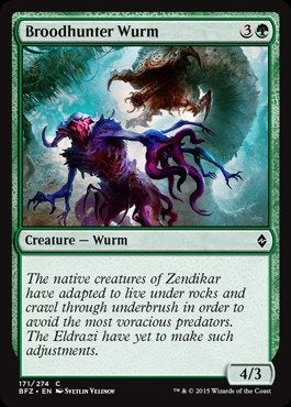 MTG BFZ 171/274 - Broodhunter Wurm