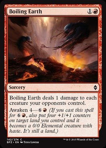 MTG BFZ 142/274 - Boiling Earth