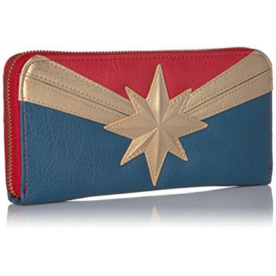 Marvel Captain Marvel Zip Around Wallet Multi, One Size