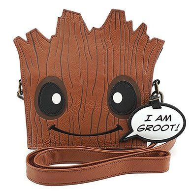 Loungefly Marvel Guardians of the Galaxy Groot Die Cut Cross-body Bag in Brown