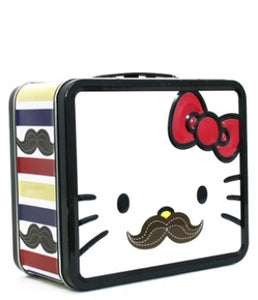 Hello Kitty in Mustache Tin Lunch Box