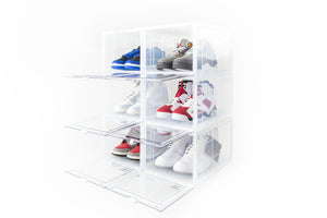 SNKR & SOLE SNEAKER STORAGE BOX (CLEAR) - 6 PACK BUNDLE (PROMO: NO TAX + FREE SHIPPING)